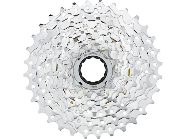 SunRace MFEX9 Schroefring 9-speed, chrom